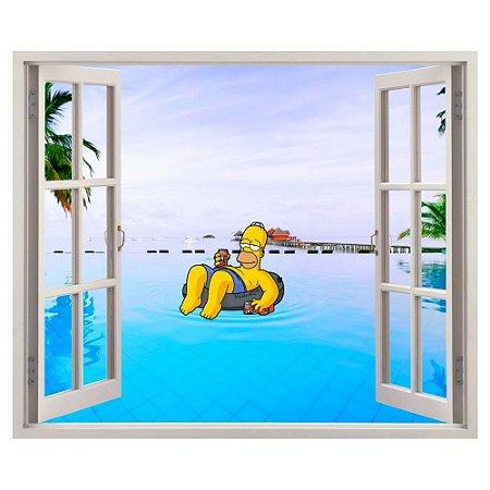 Adesivo Janela - Homer Simpsons
