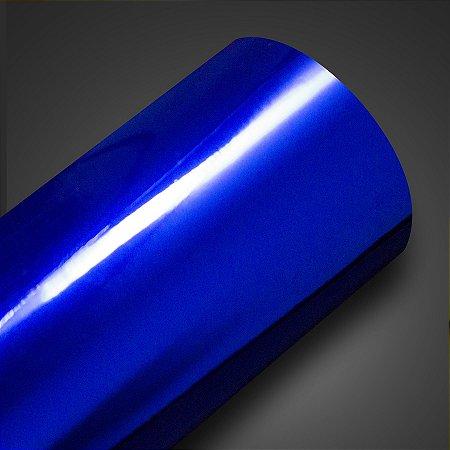 Adesivo Cromado Automotivo Azul Marinho (Rolo 5metros x 1metro)
