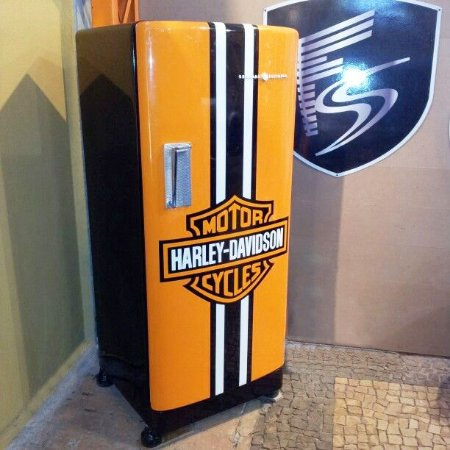 Adesivo de Geladeira Harley Davidson - KIT COMPLETO