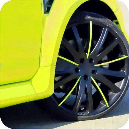 Adesivo Fluorescente Amarelo (Largura 100cm) - VENDA POR METRO