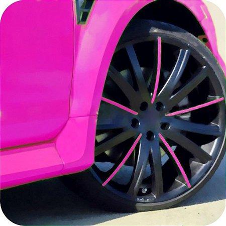 Adesivo Fluorescente Pink ( Largura 1 metro )
