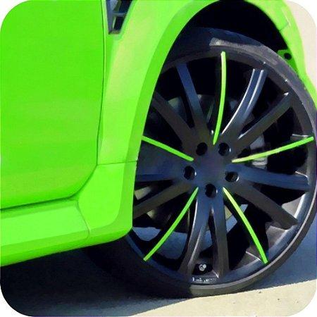 Adesivo Fluorescente Verde ( Largura 1 metro )