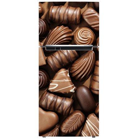 Adesivo de Geladeira Eu Amo Chocolate