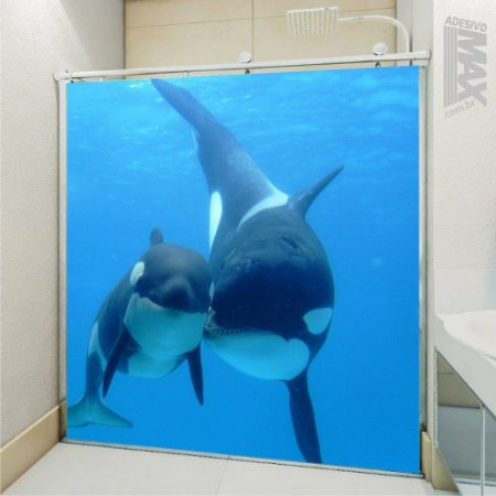 Adesivo Box - Baleia Orca Namorando