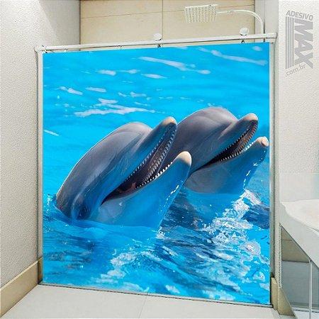 Adesivo Box - Golfinhos Felizes