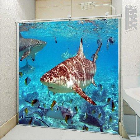 Adesivo Box - Tubarão Fundo do Mar