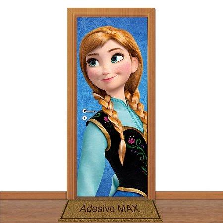 Adesivo de Porta - Frozen Anna 3