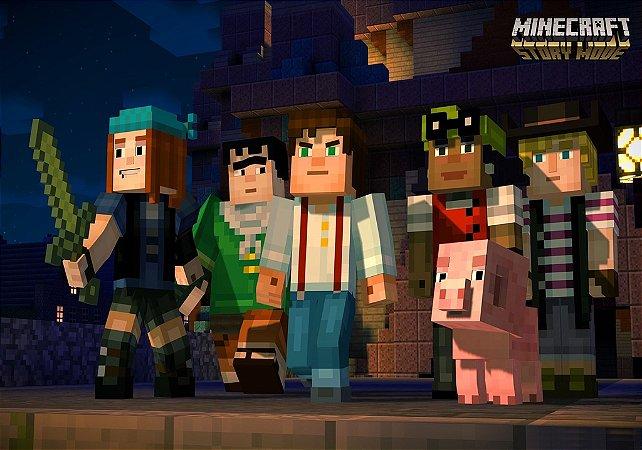 Adesivo de Parede - Minecraft Story Mode 1
