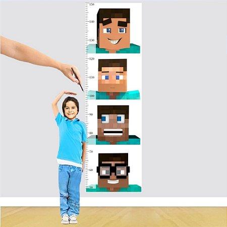 Adesivo Régua - Minecraft Faces