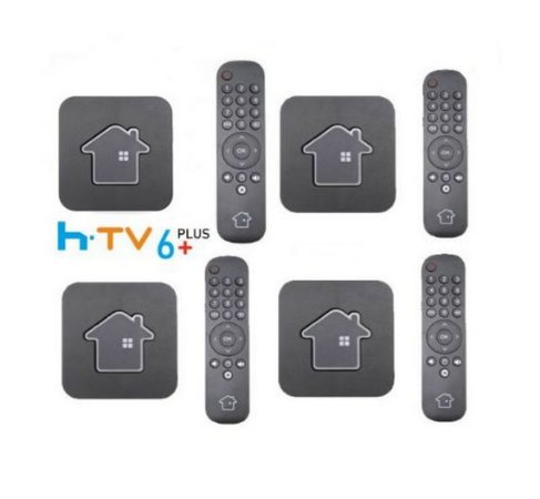 Kit de 4 Receptores Htv 6 Plus Ultra HD 16GB