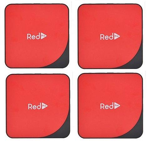Kit de 4 Receptores Red Pro Ultra HD 4K 16GB