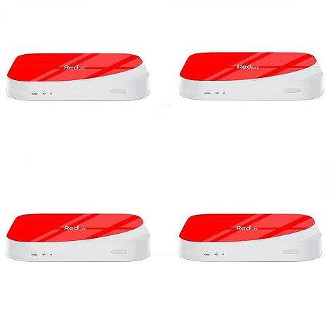 Kit de 4 Receptores Red Lite Ultra HD 8GB