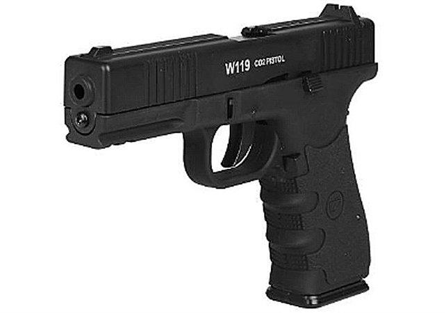 Pistola de Pressão de CO2 W119 cal 4.5