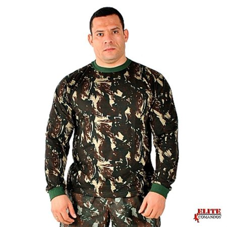 camiseta manga longa camuflada elite