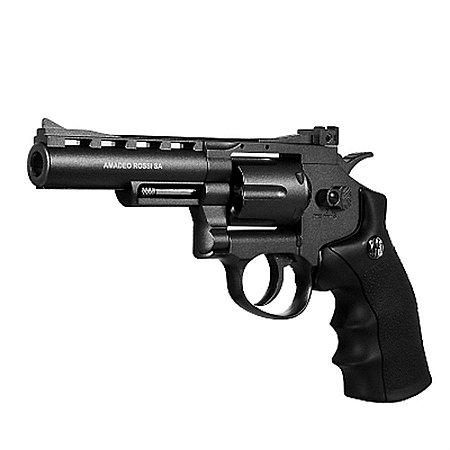 Revolver de Pressão CO2 WG Rossi 701 4,5mm 6 Tiros 4pol. - Full Metal