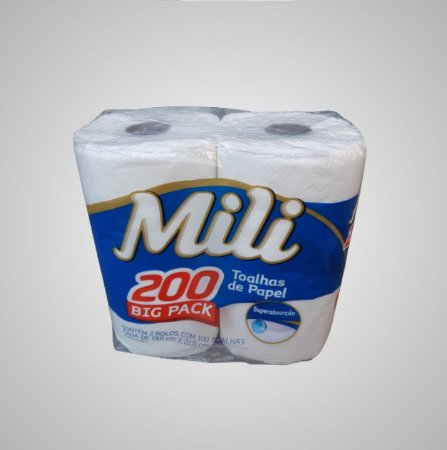 Toalha de Papel Mili 200 toalhas