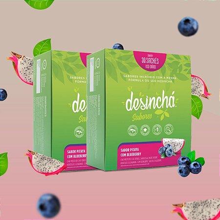 KIT Desinchá Chá Original - 02 C/ 30 Sachês - Pitaya C/ Blueberry