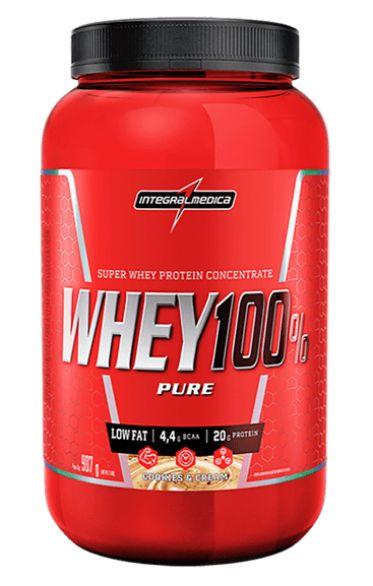 Whey 100% Pure IntegralMedica - 907g - Baunilha