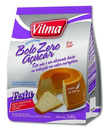 Mistura de Bolo sabor Festa Zero Açúcar – Vilma – 340g