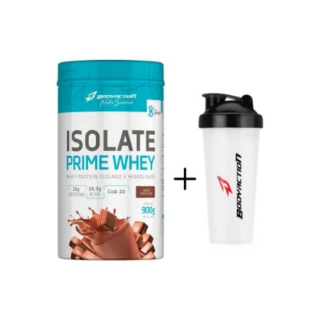 Isolate Prime Whey  CHOCOLATE 900G + Coqueteleira 600ml