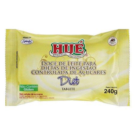 Doce De Leite Diet Puro Hué Tablete 240g Sem Glúten