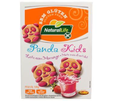 Bisc Panda Kids Morango S/ Glúten/lactose 100g Natural Life
