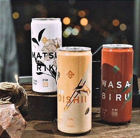 3 Cervejas ( Matsurika + Oishii + Wasabiru )