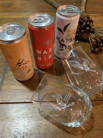 Kit 3 Cervejas ( Oishii + Wasabiru + Matsurika ) e 2 Copos Dubai Tsuru