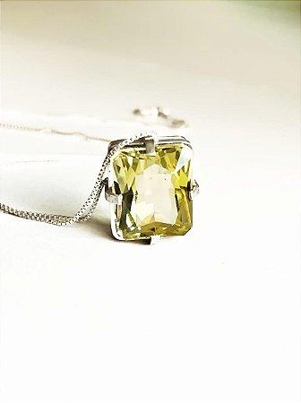 Colar Clássico Green-Gold
