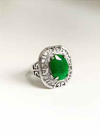 Anel Relíquia Quartzo Verde