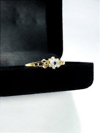 Anel Imperatriz  (Safira, Diamantes e Ouro 18K)