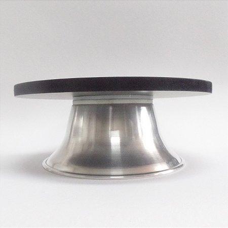 Bailarina Giratória em MDF e Aluminio - com Sistema de Esferas 30 cm Preta