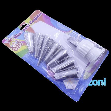 Kit Bicos para Confeitar Inox 10 Peças