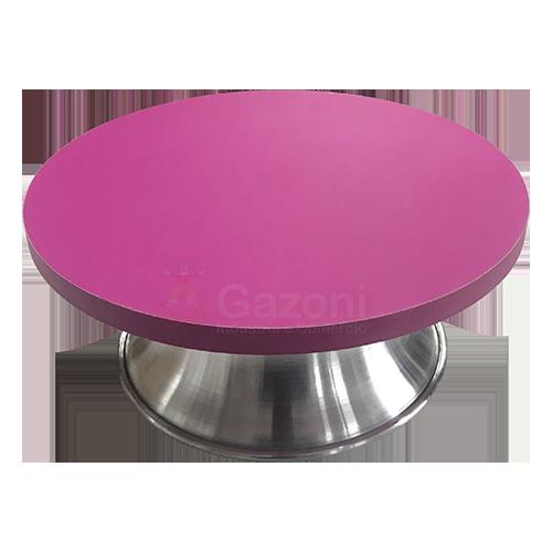 Bailarina Giratória em MDF e Aluminio - com Sistema de Esferas 25 cm - Rosa
