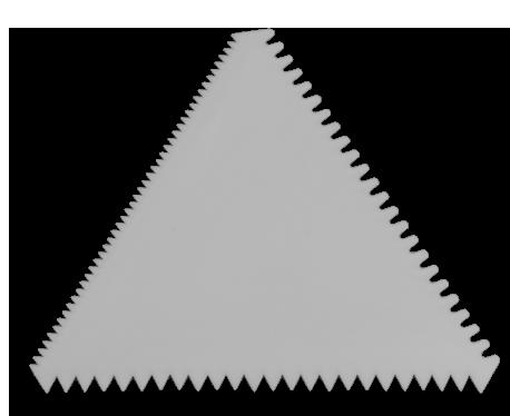 Espátula Triangulo Serrilhada