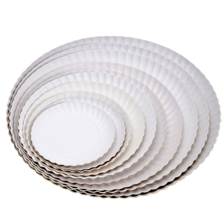 Prato de Papelão Branco N°3 - 17 cm 200 unidades