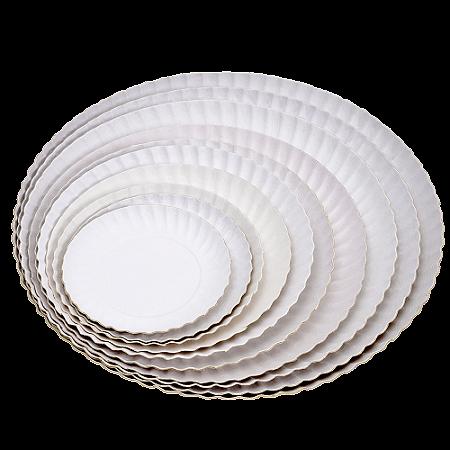 Prato de Papelão Branco N°8 - 28cm 100 Unidades