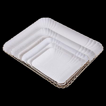 Bandejas de Papelão Branco N° 23 - 17,50x21 cm 200 Unidades