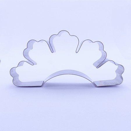 Cortador Inox Princesa com Coroa C/4 peças