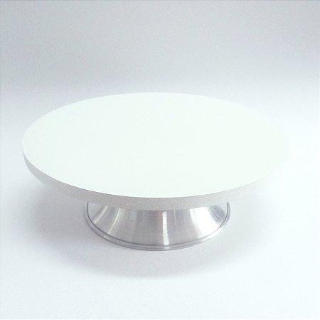 Bailarina Giratória em MDF e Aluminio - com Sistema de Esferas 30 cm Branca