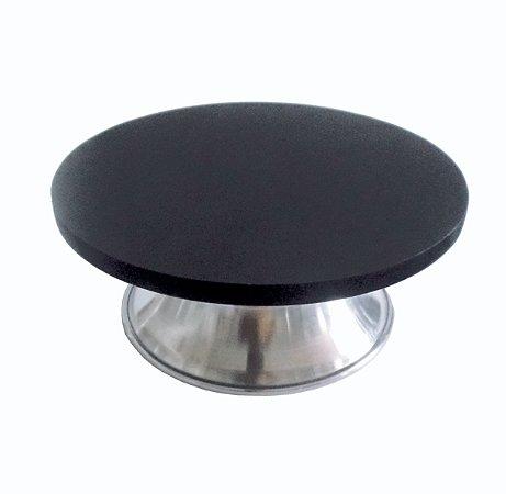 Bailarina Giratória em MDF e Aluminio - com Sistema de Esferas 40 cm Preta