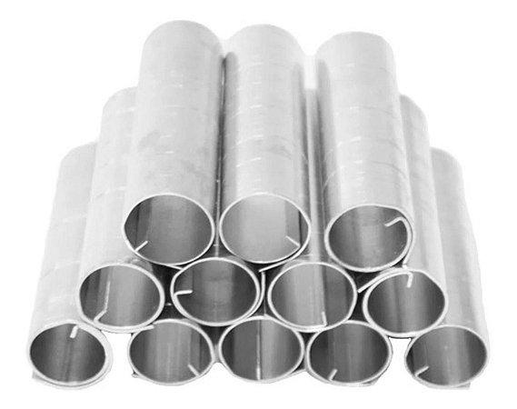 12 Formas Canola Canudo Recheado Tubo Grossa Alumínio 11x2cm
