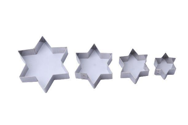 Cortador Estrela 6 Pontas com 4 Peças Inox