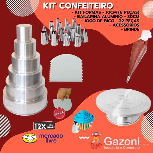 Kit Confeiteiro Completo Forma Bailarina Bico + Brinde