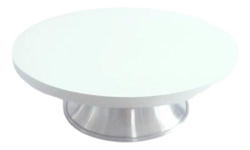 Bailarina 40cm Giratória Em Mdf E Aluminio Com Esfera