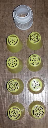 Kit Bicos Russos 8 Bicos 1 Adaptador  Em Plastico
