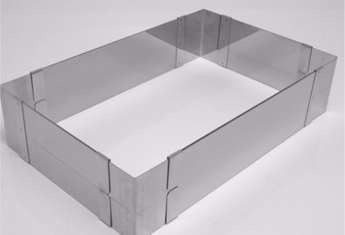 Aro Regulável Retangular Aço Inox 12cm