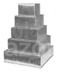 Conjunto Formas Quadradas P/ Bolo 5 Pças Alumínio