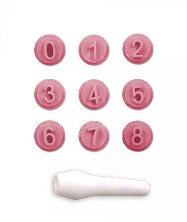 Kit Carimbos Números Rosa