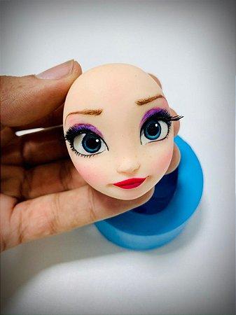 Combo Molde Rosto Elsa + Aula Virtual